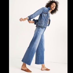 Madewell wide leg crop jeans size 29 DR